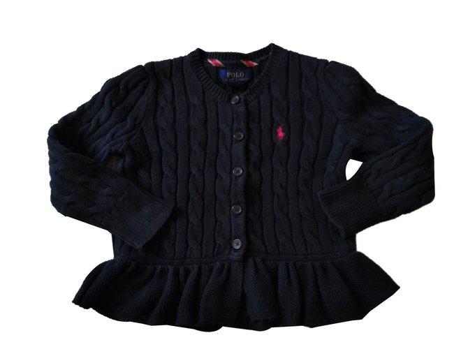 Polo Ralph Lauren Cardigan Sweaters Cotton Navy blue ref.87883