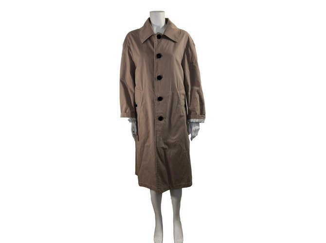 Burberry Cotton trench Trench coats Cotton Beige ref.87956