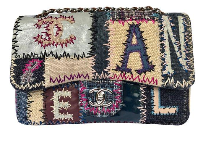 41816fa018c4 Chanel Jumbo classic flap patchwork Handbags Cloth Multiple colors ref.87957