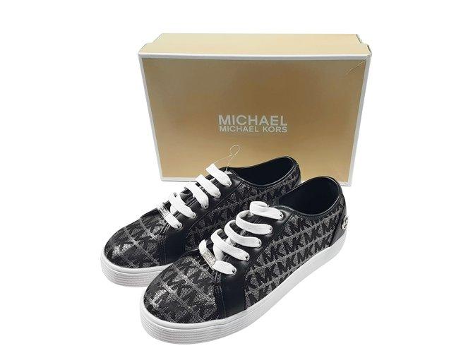 Michael Kors Sneakers Sneakers Cloth Silvery ref.88034