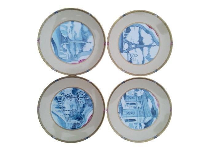 Hermès Set of 4 plates, Memory of Paris 1989 Misc Other Multiple colors ref.88061