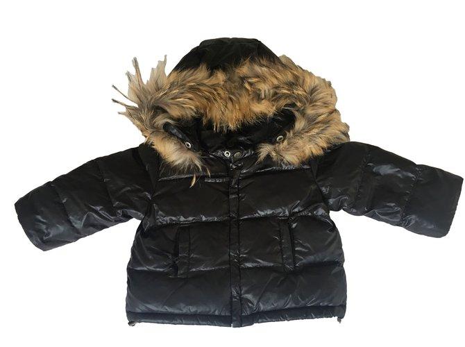 Bonpoint Pretty Jacket Boy Coats Outerwear Fur Black ref.88149