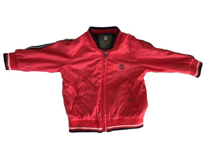 Blousons, manteaux garçon Timberland Blouson léger Polyester Rouge ref.88155
