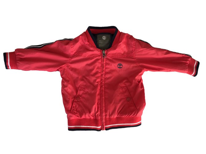 Timberland Jacket Boy Coats Outerwear Polyester Red ref.88155