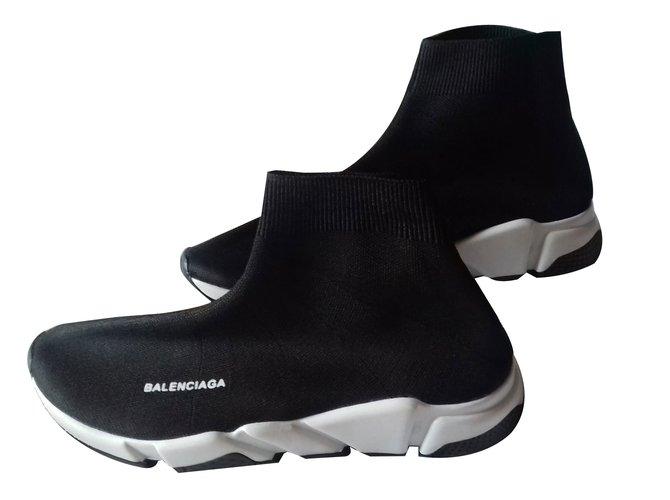 27795fb63d63 Balenciaga Speed sneakers Sneakers Cloth Black ref.88159 - Joli Closet