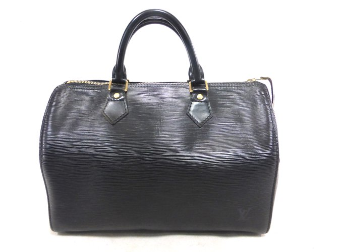 223c23fb4d3c Louis Vuitton Speedy 30 epi black Handbags Leather Black ref.88161 ...