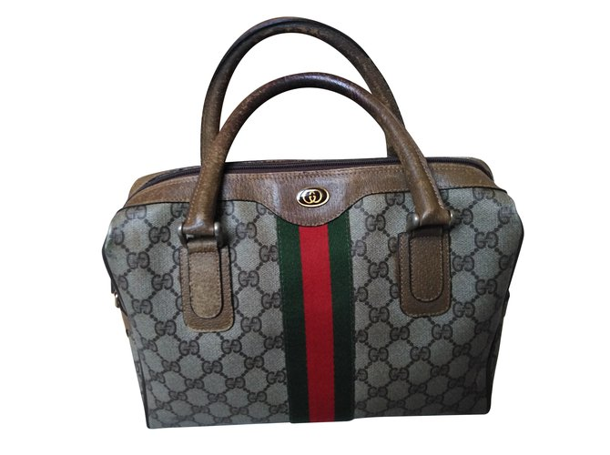 7c5a2ca1893 Gucci Vintage bag Handbags Cloth Beige ref.88222 - Joli Closet
