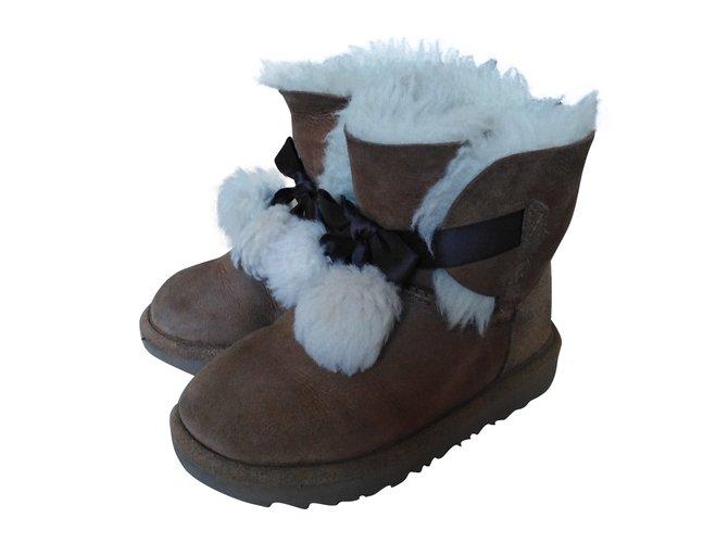 Ugg Boots T Gita Boots Suede Beige ref.88223