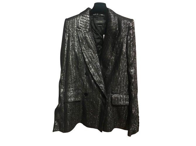 c0dc5d83312 Isabel Marant Denel Jackets Silk,Viscose Silvery ref.88315 - Joli Closet