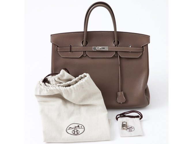 0130763e6229 Hermès Spacious Hermes Birkin 40 in Togo taupe in very good condition!  Handbags Leather Grey
