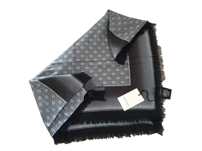 magasin discount courir chaussures codes promo Carrés Gucci Etole Autre Gris anthracite ref.88705 - Joli Closet