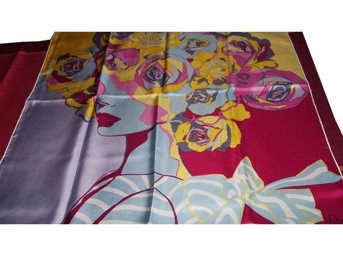 Carrés Dior Foulards de soie Soie Multicolore ref.88708