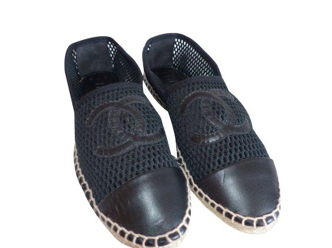 Chanel Espadrilles Espadrilles Other Black ref.197289
