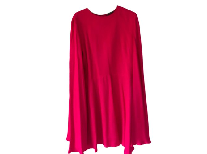 Alexander Mcqueen Dress Dresses Silk Fuschia ref.88821