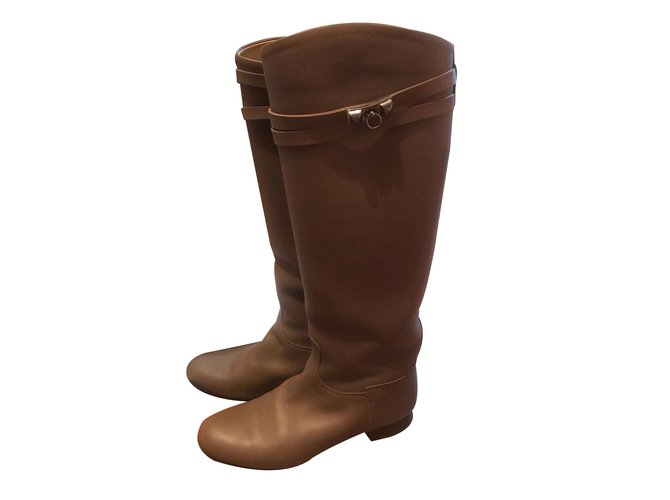 Hermès Jumping boots Boots Leather Other ref.88959