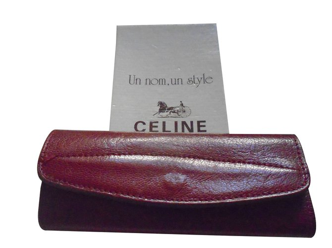 Céline Key ring Purses, wallets, cases Leather Dark red ref.88986