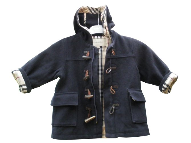 Burberry Boy Coats Outerwear Boy Coats Outerwear Wool Black ref.88993