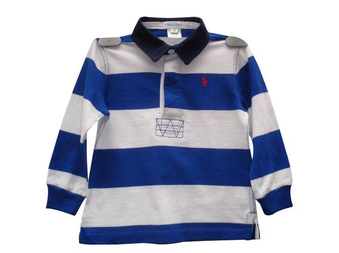 Tops garçon Ralph Lauren T-shirts Coton Multicolore ref.88994