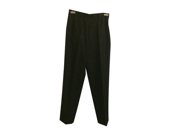 Pantalons Cerruti 1881 Pantalon Laine Noir ref.89010 - Joli Closet 3afe45daf0c