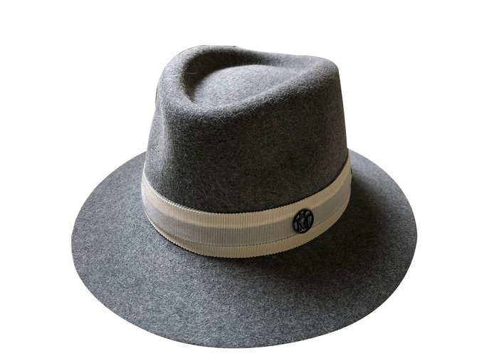 Maison Michel Gray Hat Hats Wool Grey ref.89088