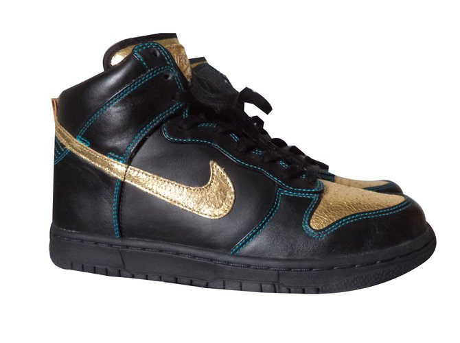 Closet Nike Sneakers Ref Black Leather 89111 Add Sneaker Joli nvN08mwyOP