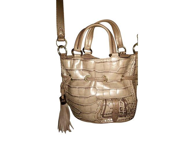 eb4359c067 Lancel Première flirt Handbags Leather Taupe ref.89163 - Joli Closet