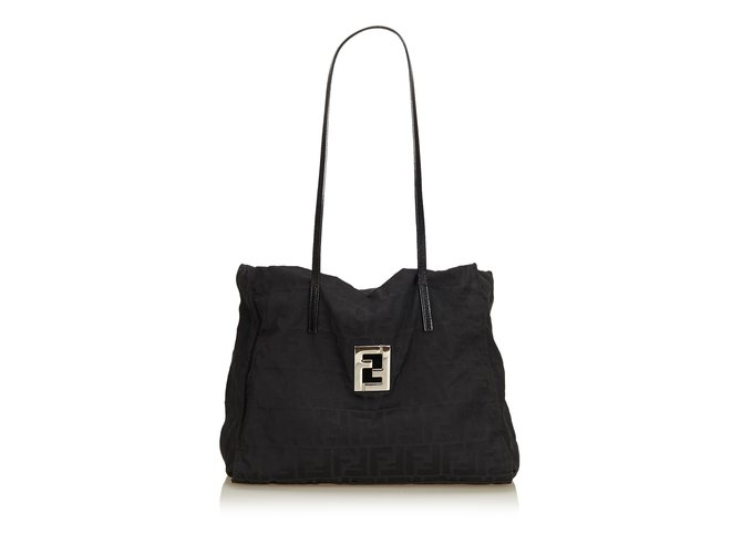 421ab4d78ac Fendi Zucchino Canvas Tote Bag Totes Leather