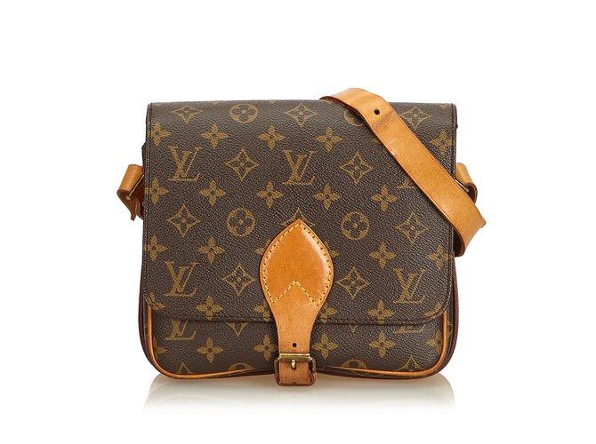 40e3659d2171 Louis Vuitton Monogram Cartouchiere PM Handbags Leather