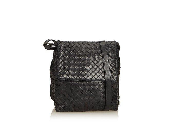 Bottega Veneta Braided Leather Crossbody Bag Handbags Leather 88e647a3ab655