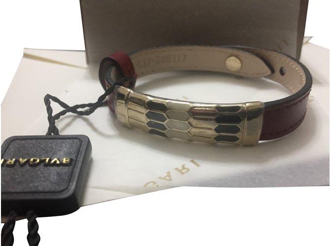 354a035e4c8a Bulgari Viper SERPENTI FOREVER Bracelets Leather Red ref.89345 ...
