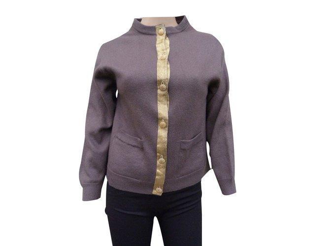 bd8d936b61189e Yves Saint Laurent Knitwear Knitwear Wool Brown,Golden ref.89412 ...