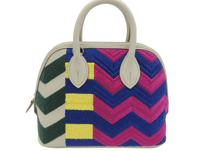 Hermès MINI BOLIDE SERIES LIMITED ZIG ZAG Handbags Leather Multiple colors ref.89428