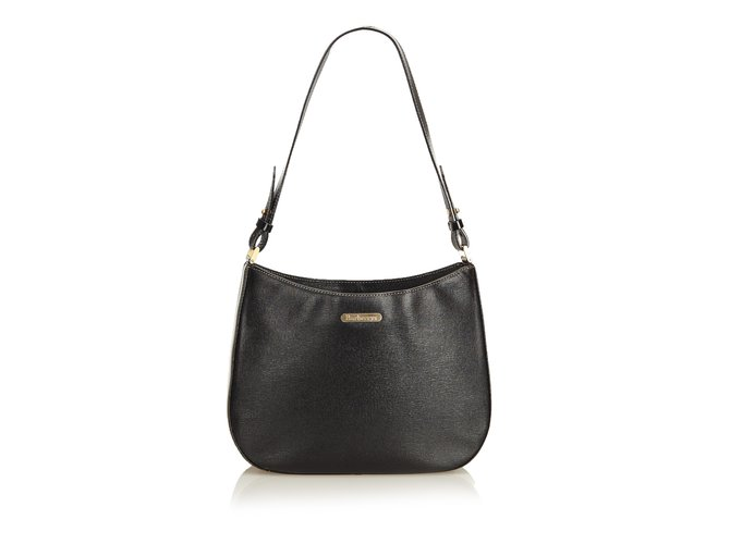 Burberry Leather Shoulder Bag Handbags Leather,Other Black ref.89529