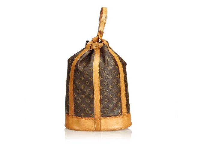 5f281c50c639 Louis Vuitton Monogram Randonnee GM Backpacks Leather