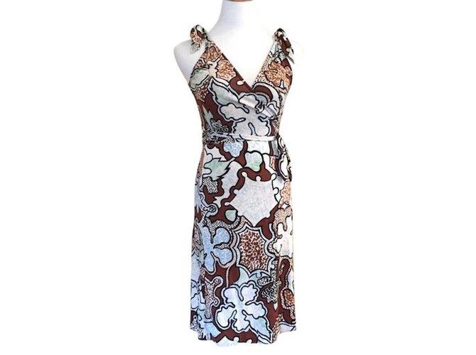 a1fbe1327c0ebe Diane Von Furstenberg Tyler wrap dress Dresses Silk Multiple colors  ref.89678