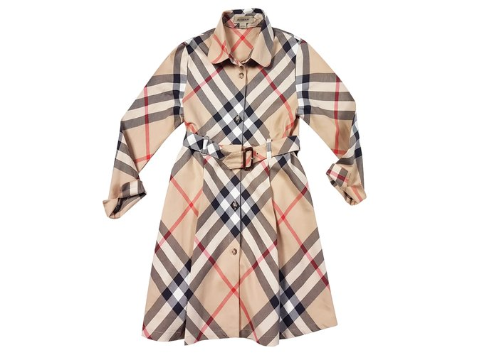 Robes fille Burberry Robes Coton Multicolore ref.89589