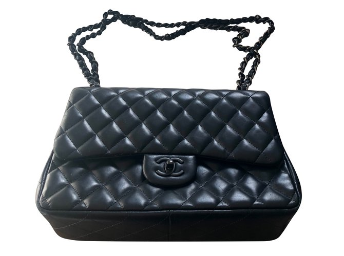 Sacs à main Chanel Jumbo black édition limited Cuir Noir ref.89639