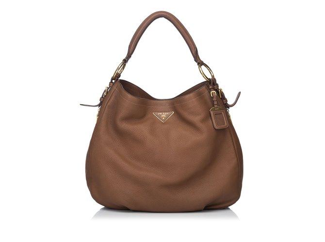c3b8f72c5a74 Prada Leather Hobo Handbags Leather
