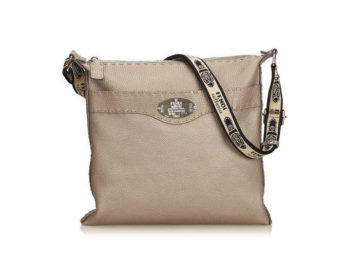 096971df6b Fendi Leather Selleria Crossbody Bag Handbags Leather