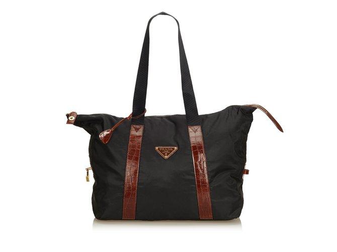 3f21ecbd746b Prada Nylon Shoulder Bag Handbags Leather