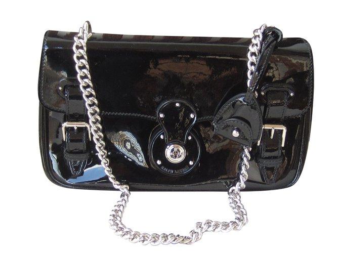 16da3a1700 Ralph Lauren Ricky Handbags Patent leather Black ref.89872 - Joli Closet