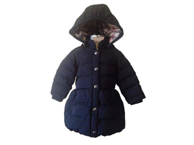 Blousons, manteaux filles Burberry Manteaux fille Coton Noir ref.89903