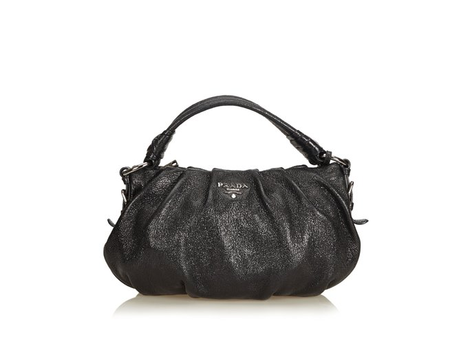 31dc49cc1f25 Prada Leather Hobo Handbags Leather