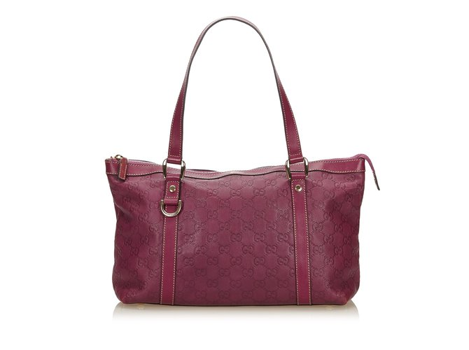 b59eed40a5 Gucci Guccissima Leather Tote Bag Totes Leather,Other Purple ref.90013