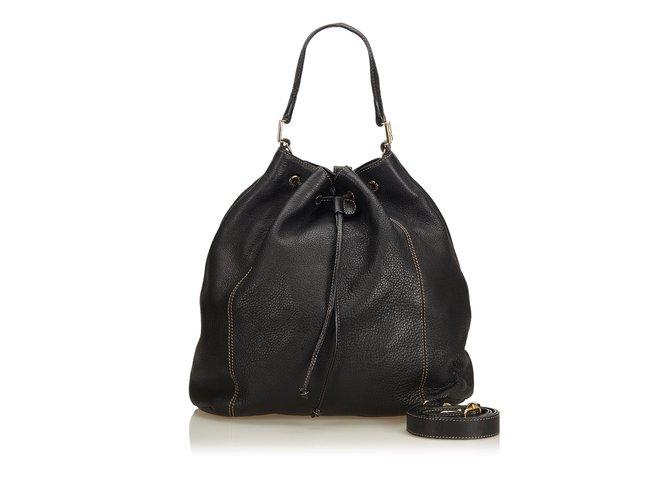 9ecbbf3b6089 Fendi Leather Bucket Bag Handbags Leather