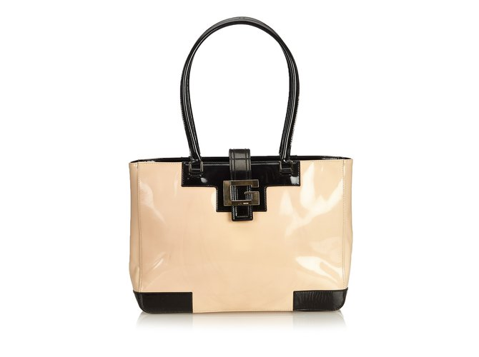 2ca5c95657 Gucci Patent Leather Tote Bag Totes Leather,Patent leather  Brown,Black,Beige ref