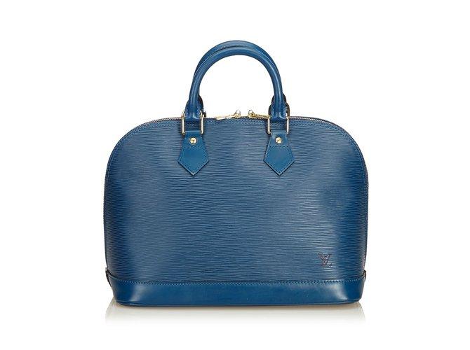 Sacs à main Louis Vuitton Et Alma PM Cuir Bleu ref.90275