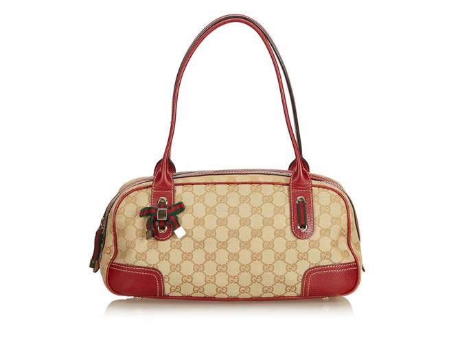 4e8569744 Gucci Guccissima Princy Shoulder Bag Handbags Leather,Other,Cloth Brown,Multiple  colors,