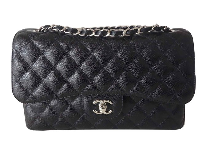 245a74c615cd Chanel Gm classic chanel bag Handbags Leather Black ref.90390 - Joli ...