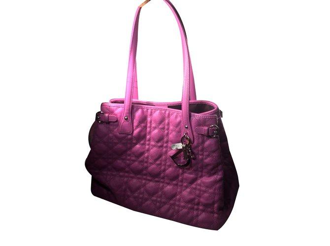 Sacs à main Christian Dior Panarea mn cabas toile anduite Toile Violet  ref.90408 bec651d3b06